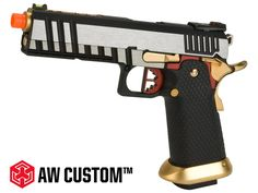 AW Custom Competitor Hi-Capa Gas Blowback Airsoft Pistol - Two-Tone (Package: Gun Only)