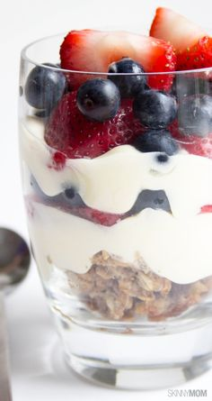 Try these fruity cheesecake parfaits.