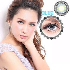 Big Eyes Prescription Party Gift Circle Contact Lenses Makeup Flower Bud Light Blue