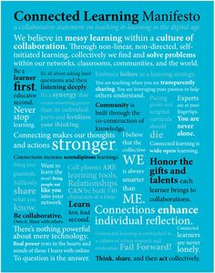The Connected Learning Manifesto