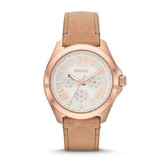 super popular 8279d 7cb10 Womens Fossil Cecile watch with rose gold tone case and brown leather  strap, choose us for exceptional service.