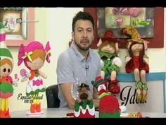 Espazio ideal 5 Octubre 2016 - YouTube Doll Face Paint, Primitive Doll Patterns, Felt Crafts, Baby Dolls, Santa, Creative, Christmas Ideas, Image, Christmas Crafts