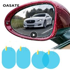 Buy Car Rain Film Rearview Mirror Protective Film Anti Fog Membrane Anti-glare Waterproof Rainproof Car Mirror Window Clear Safer at tigors.com! Free shipping to 185 countries. Gift Shop | Online Shipping | tigors.com Window Mirror, Car Mirror, Car Blinds, Mirrors Film, Driving Safety, Convex Mirror, Car Rear View Mirror, Waterproof Stickers, Car Accessories