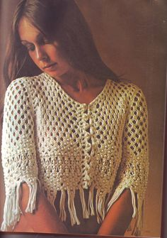 PDF Macrame Pattern - Beaded Macrame Jacket Shawl Shrug 201283 Vintage by EunicesTickleTrunk on Etsy