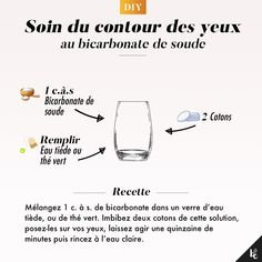 DIY: Eye contour treatment with baking soda - Here is a grandmother& tip to take care of the eye area with a simple recipe. Eye Contour, Contour Makeup, Dupe Makeup, Hair Makeup, Face Skin Care, Diy Skin Care, Parfait, Japanese Face, Make Up Gesicht