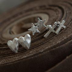 The Little Black Dress Boutique Limited. Tutti & Co Silver Cross Stud Ear rings EA16CS