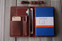 Mano cosida iPad aire caso de cartera cuadernos Moleskine