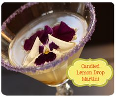 Candied Lemon Drop Martini (and other drink ideas on this site)