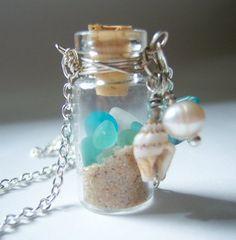 sand, sea glass, shell, pearl... beautiful