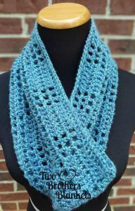 Valerie Cowl - free crochet pattern at Two Brothers Blankets. More
