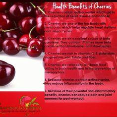 Health benifits of cherries