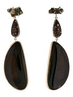 Melissa Joy Manning Three Stone Drop Earrings