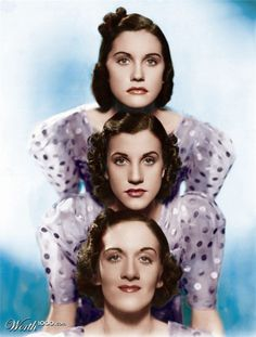 The Andrews Sisters, born in Minnesota, were daughters of a Greek immigrant who changed his last name from Andreos to Andrews when he settled in America.