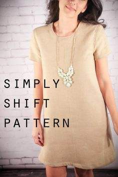 schlichtes Basic Kleid nähen, T-Shirt Kleid - Simply Shift Free Dress Pattern (2-12)