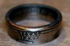 2004 Texas State Quarter Coin Ring by customcoinrings