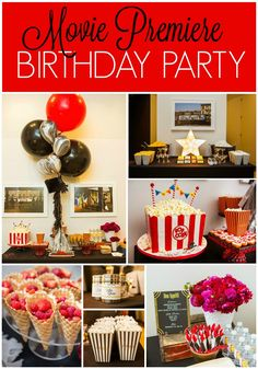 Ideas for a Simple and Chic Movie Premiere Birthday Party