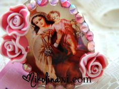 Religious Kitsch Mary Mother and Child Adjustable by NikolinaMarie, $10.00