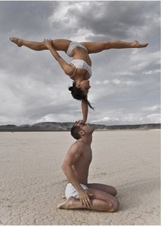 Acro yoga - Burning man.