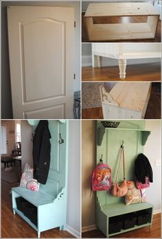 DIY: old door to entryway bench!! seems simple enough!