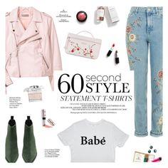 """Statement tshirt"" by honestlyjovana ❤ liked on Polyvore featuring H&M, Acne Studios, Longchamp, SANCHEZ, Ciaté, Herbivore, Chloé, Whiteley, Haute Hippie and statementtshirt"