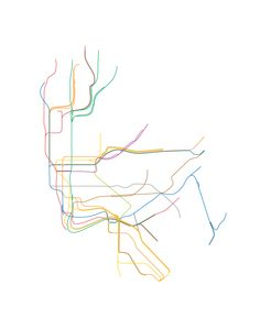 NYC Subway Map - Stripped Down.  By Bobby Davies.