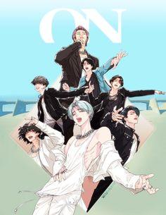 bts wallpaper ON . Bts Chibi, Jungkook Fanart, Kpop Fanart, Foto Bts, Bts Taehyung, Bts Jimin, Bts Anime, V Bts Wallpaper, Eyes Wallpaper