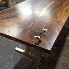David Alan Collection Petrified Wood Tile Dining Table With - West elm slab dining table