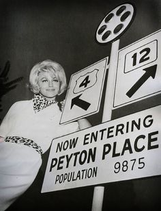 Dorothy Malone as 'Constance MacKenzie' (1964-68) in Peyton Place (1964-69, ABC)