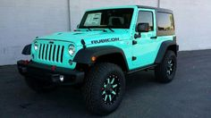 Tiffany Blue 2 Door Jeep Rubicon - Fuel Offroad Wheels - Toyo Tires