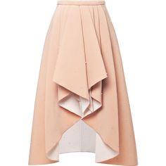 Rodarte 3D Bead-Embellished Foam Skirt ($785) ❤ liked on Polyvore featuring skirts, mini skirts, bottoms, saias, faldas, nude, embroidered skirt, pink skirt, pink mini skirt and beaded skirt