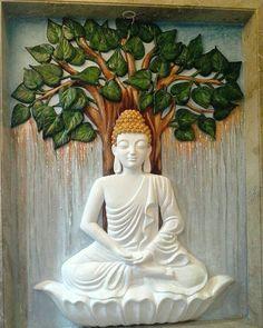 Budha Painting, Ganesha Painting, Tanjore Painting, Mural Painting, Paintings, Clay Wall Art, Mural Wall Art, Murals, Clay Art