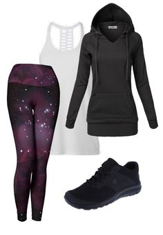 """The highest quality leggings, designed with your body and lifestyle in mind. Beautifully printed with the original artwork """"Nebula One"""" by Emily Magone."""