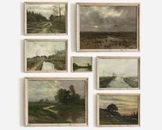Landscape Prints, Landscape Art, Landscape Paintings, Vintage Prints, Vintage Art, Decoration, Art Decor, Framed Tv, Country Landscaping