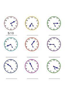 Nauka zegara – napisz godzinę – część 6