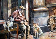Gentleman with dogs in Utrecht