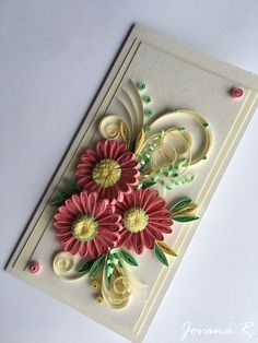Unique handmade quilling card Happy Birthday by PaperMagicByJR