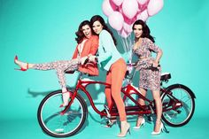 Kim, Kourtney, and Khloe Channel the '50s in Their Kardashian Kollection Spring Ad Campaign