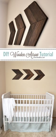 Follow the arrow trend with this hand made nursery art decoration!