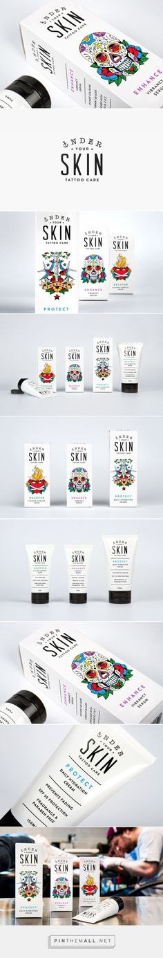 Tattoo Care Lotion Packaging Design Skull