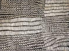 Lena Nyadbi / Lilmin and Jimbirla 2012 Natural ochre and pigments on linen 90 × 120cm