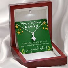 To My Darling Wife Christmas Beauty Necklace