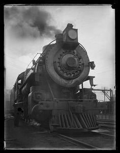 E0027. Accession Number 1974.0056.1252 Maker William M. Vander Weyde (American 1871–1929).   Title: Locomotives. Date: ca. 1900