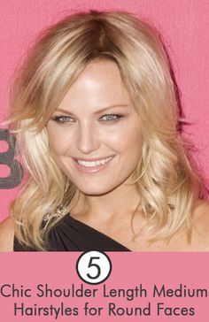 Medium Hairstyles for Round Faces: Here are some chic haircuts for medium hair length and round faces.