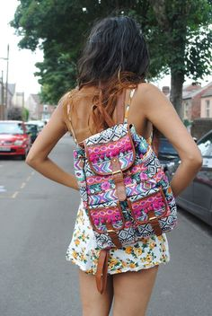 BALO SIZE LỚN THỔ CẨM TRẮNG ĐEN | AZTEC BACKPACK | Pinterest ...