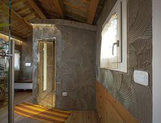 Vimar referenza a Venezia con la serie Arké esempio installazione domotica con i pulsanti nella zona sauna