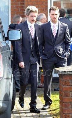Niall at Gregg's wedding.. Fans ruined it. I'm still mad.