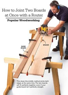 How to Joint Two Boards at Once with Your Router - Popular Woodworking Magazine