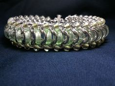 Glass caterpillar glass and chainmaille by galiam34jewelry on Etsy, $40.00