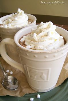 Pumpkin Spice Hot Chocolate  Ingredients:2 1/2 C milk 1/3 C hot cocoa mix1/4 C canned pumpkin 1 1/2 t pumpkin pie spice (next time I'll use just 1 teaspoon) 1/2 t vanilla pinch of salt homemade whipped cream