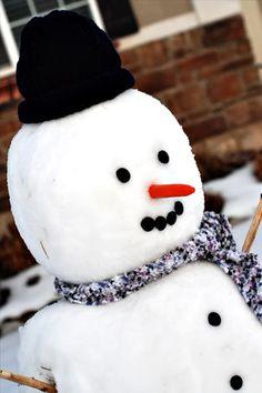 Build a really good snowman, not just a tiny Alabama snowman.